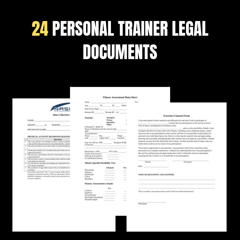 24 Personal trainer forms you can edit in word format.