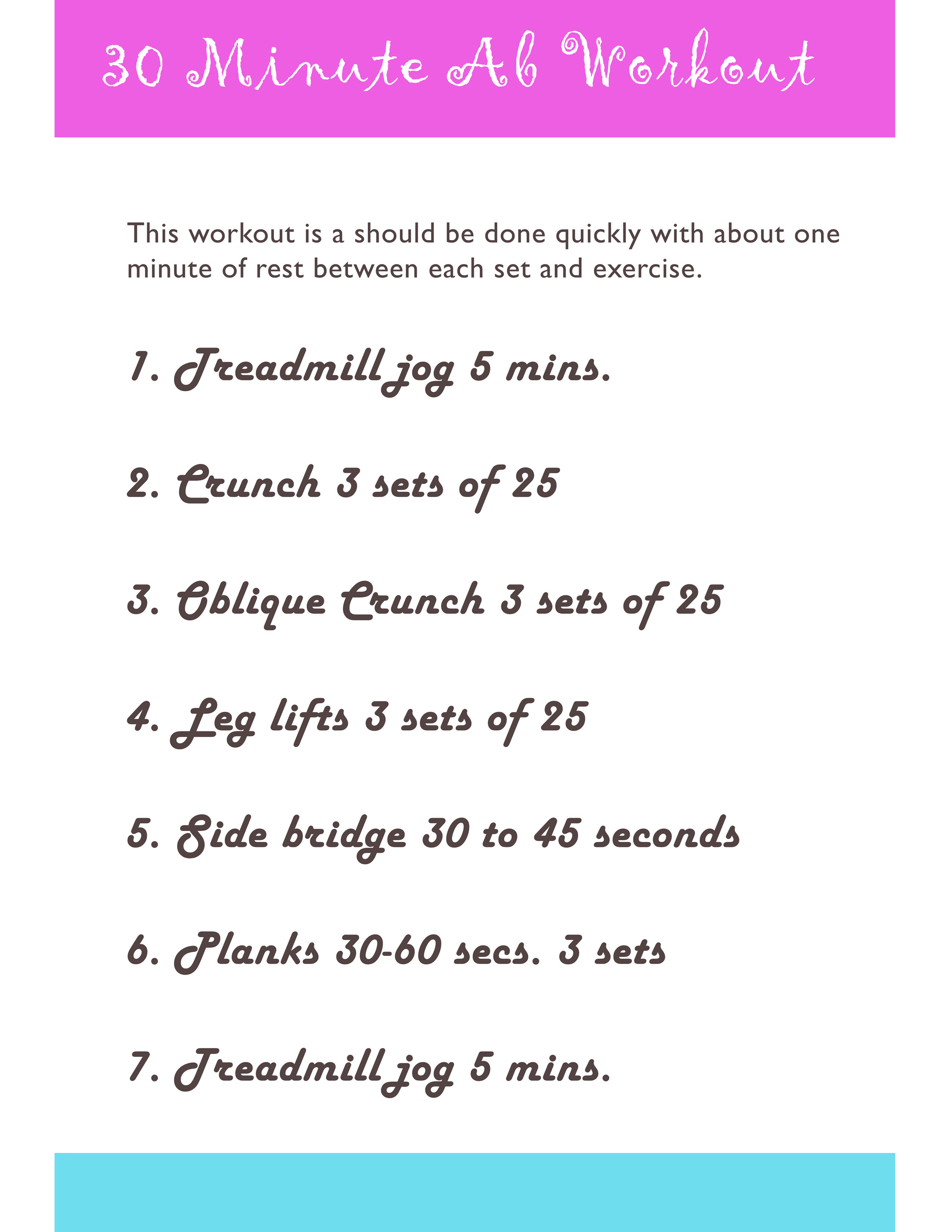 30 Minute Ab Workout You Can Download And Print
