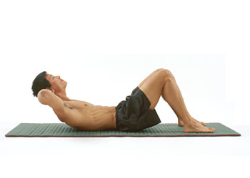 Male performing a good abdominal exercise.