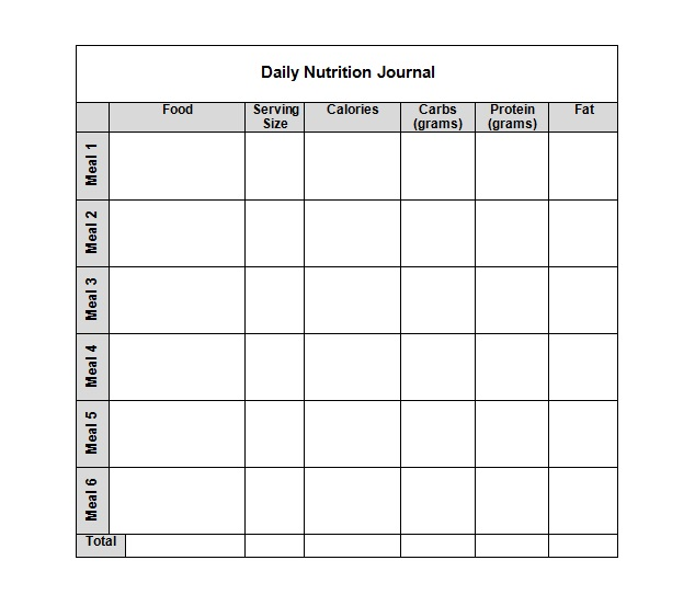 daily diet logs