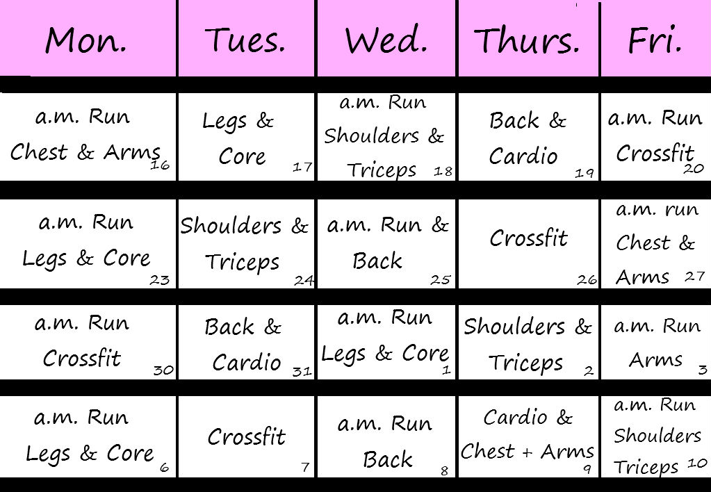 Exercise Calendar | Daily, Monthly and Weekly | Printable and ...