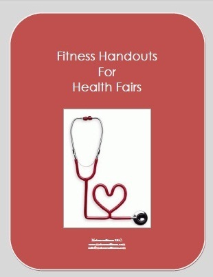 Fitness handouts for health fairs e-book.