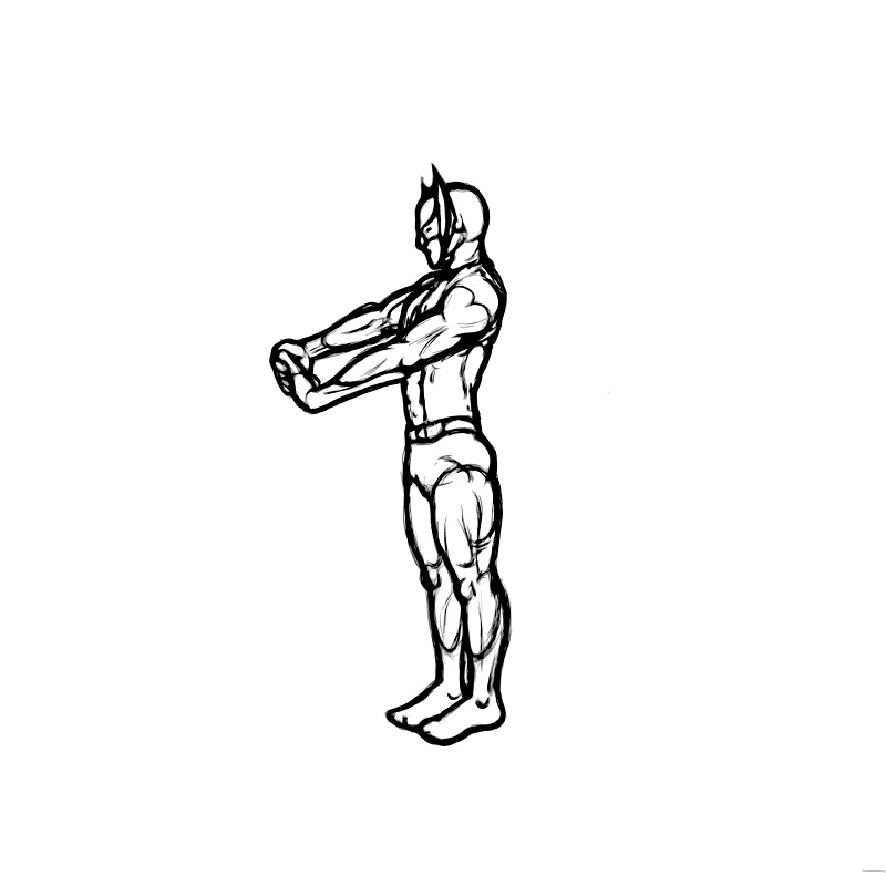Illustration of a good forearm stretch.