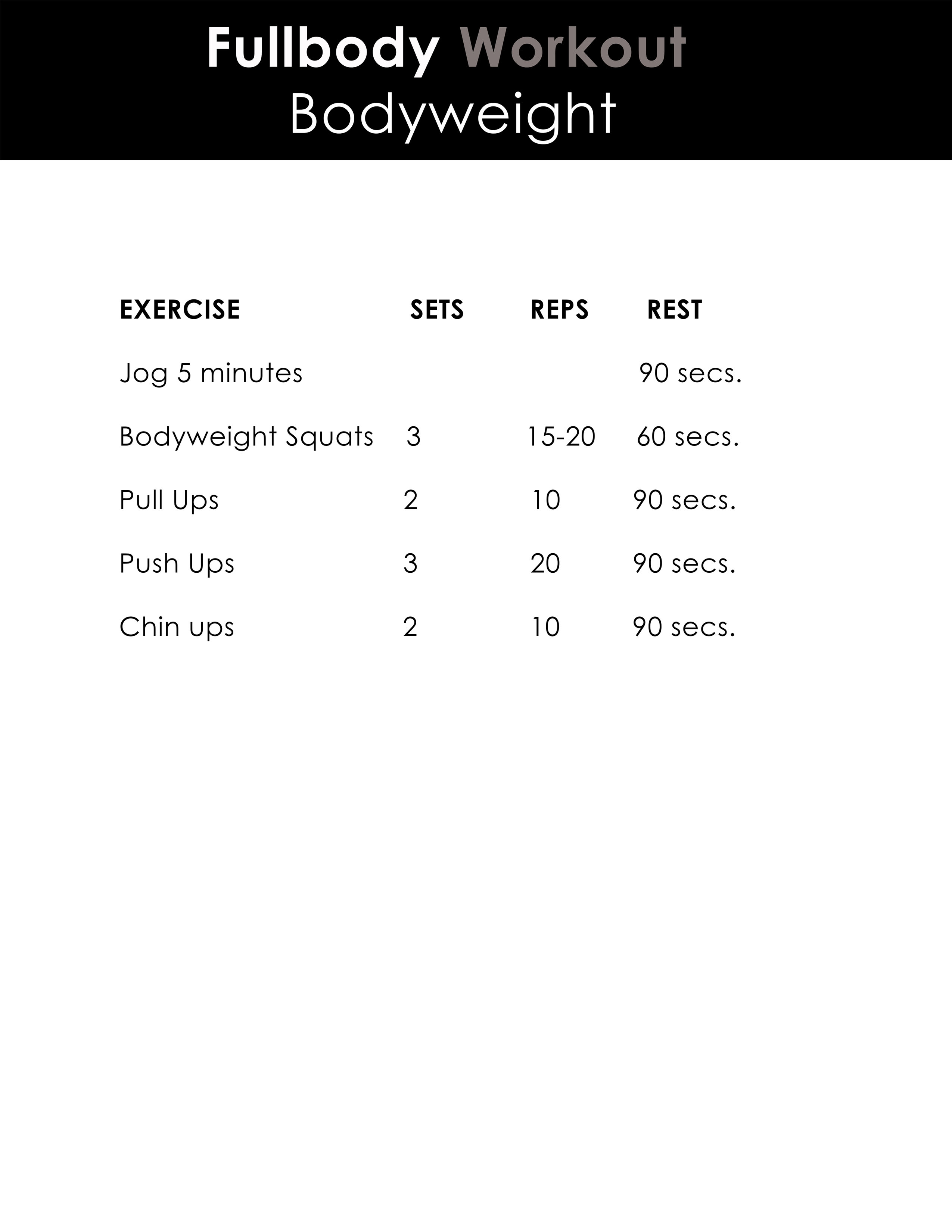 Your 20 Minute Workout
