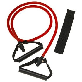 Resistance bands used to do workouts without free weights.