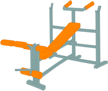 Illustration of bench press to help you do resistance training exercises.