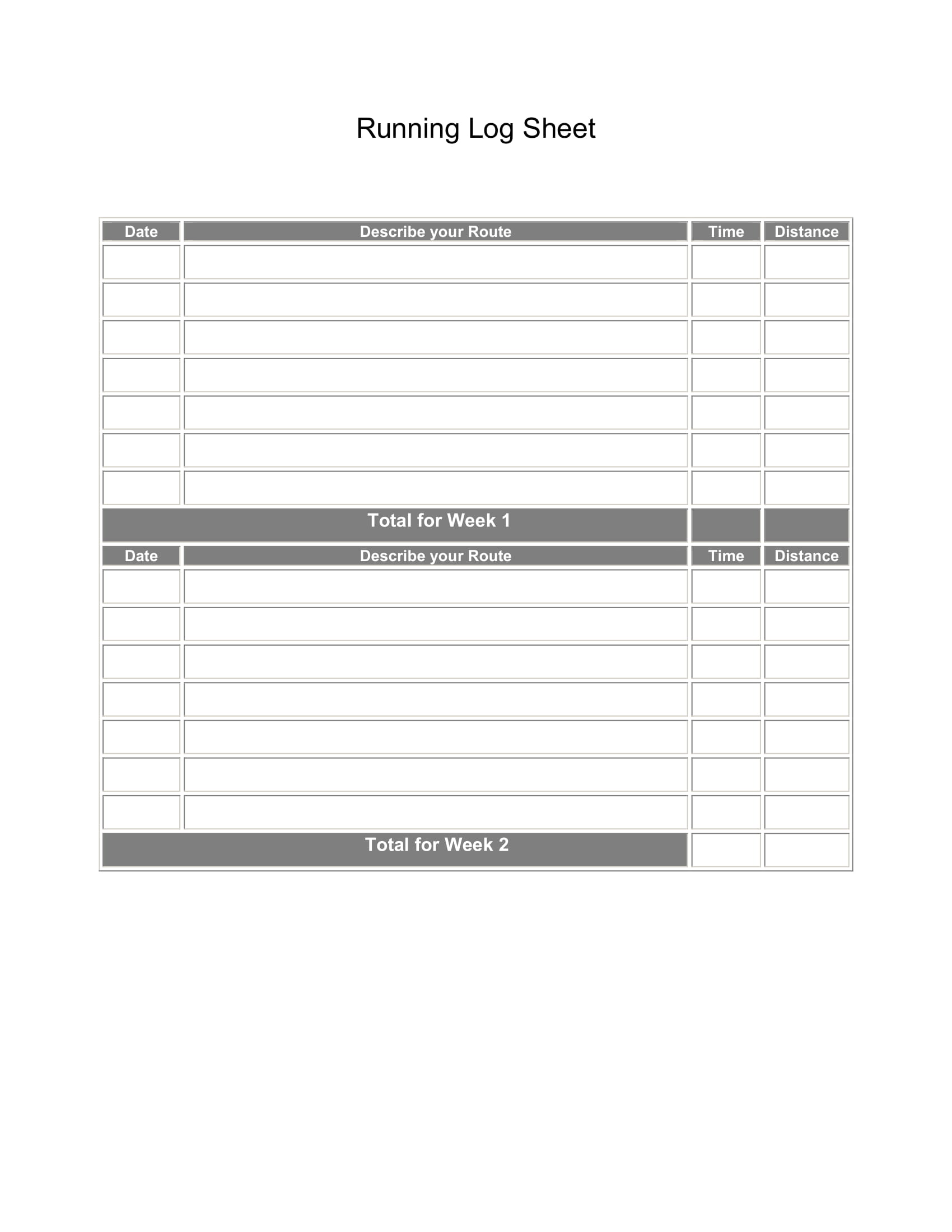 picture regarding Printable Running Log named Printable Managing Log Sheets