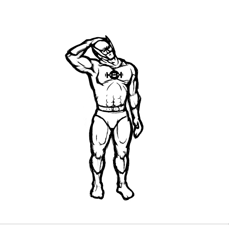 Illustration of side neck stretch exercise.