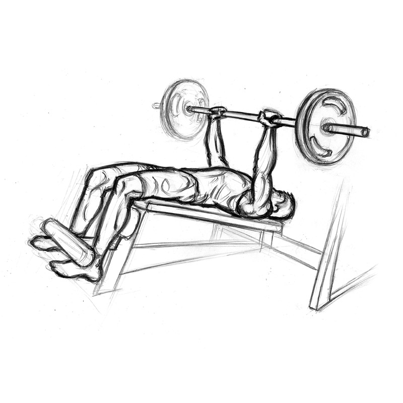 Other tips to executing a proper decline bench press: