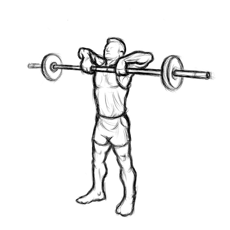 of man doing upright rows  Upright Rows
